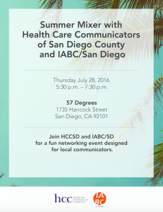 IABC Summer mixer health care comm